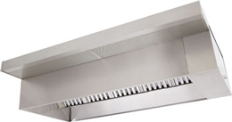 Wall Canopy Exhaust Hood with Front Perforated Supply Plenum